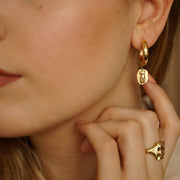 Athena Hoop Earrings- 18ct Gold Plate - Daisy London
