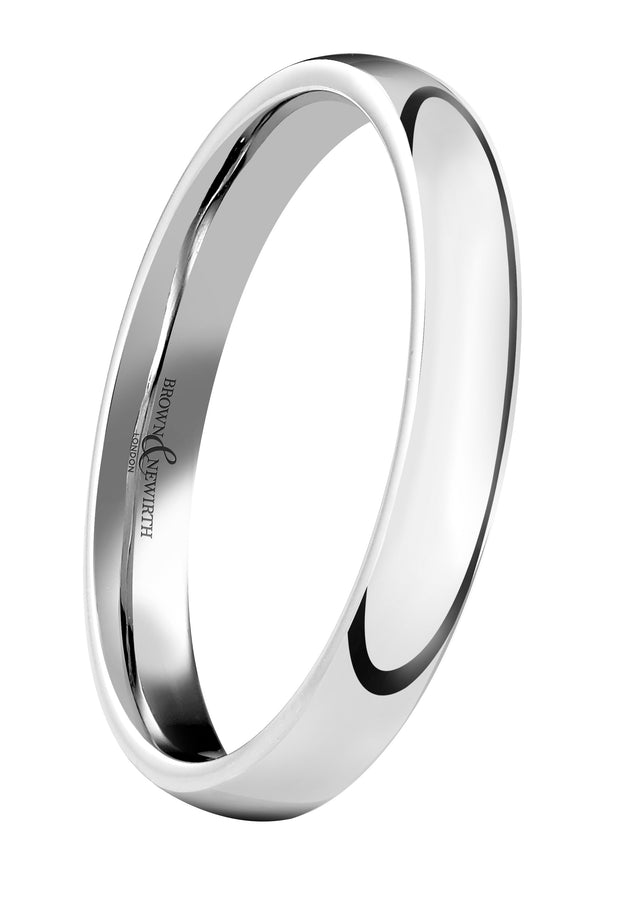 B&N Sleek Wedding Band 3mm