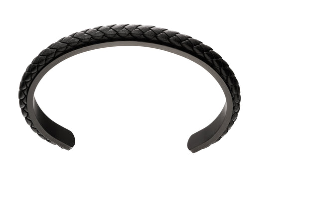 Fred Bennett Black steel Bangle