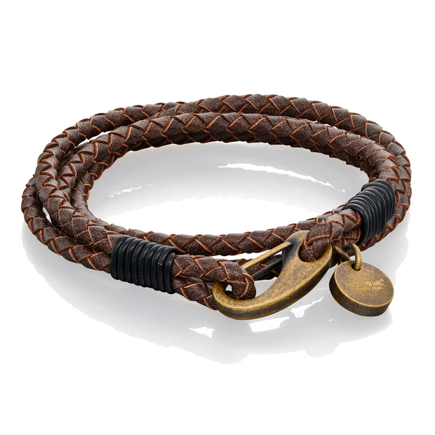 Tan wrap around leather Bracelet - Fred Bennett