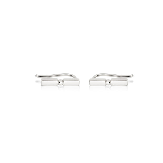 Stacked Crawler Sterling Silver Earrings - Daisy London