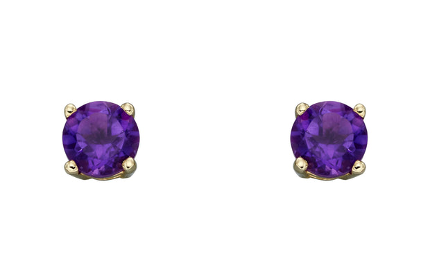 February Birthstone - Amethyst & Gold