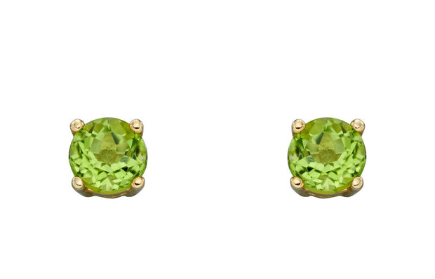 August Birthstone - Peridot & Gold