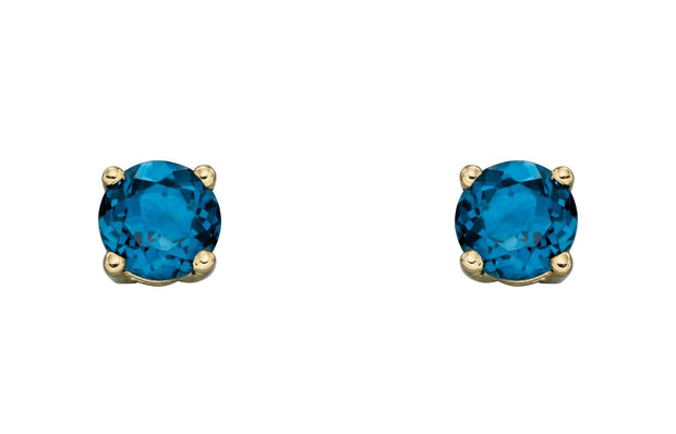 December Birthstone - Blue Topaz & Gold