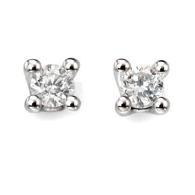 White Gold & Diamond Solitaire Studs