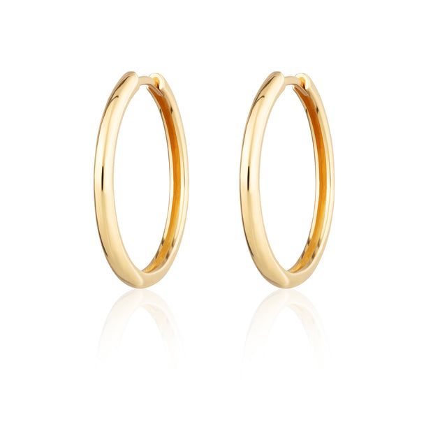 Perfect Hoop Sterling Gold plated Earrings - Scream Pretty