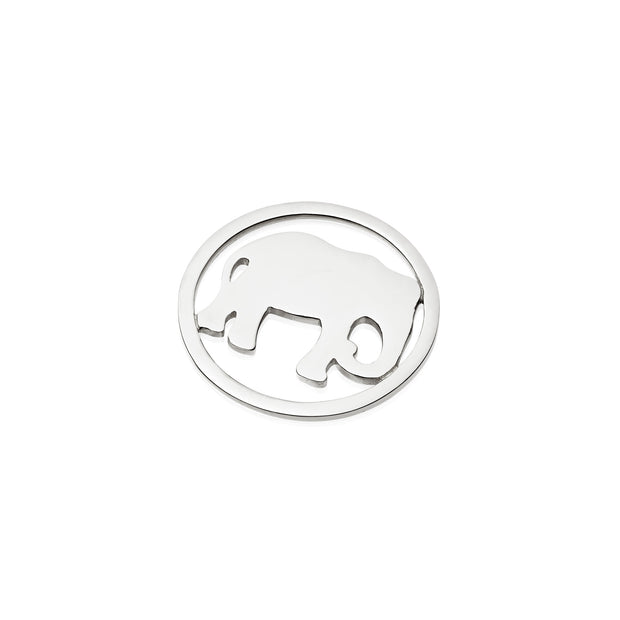 Elephant Sterling Silver Halo Coin - Daisy London