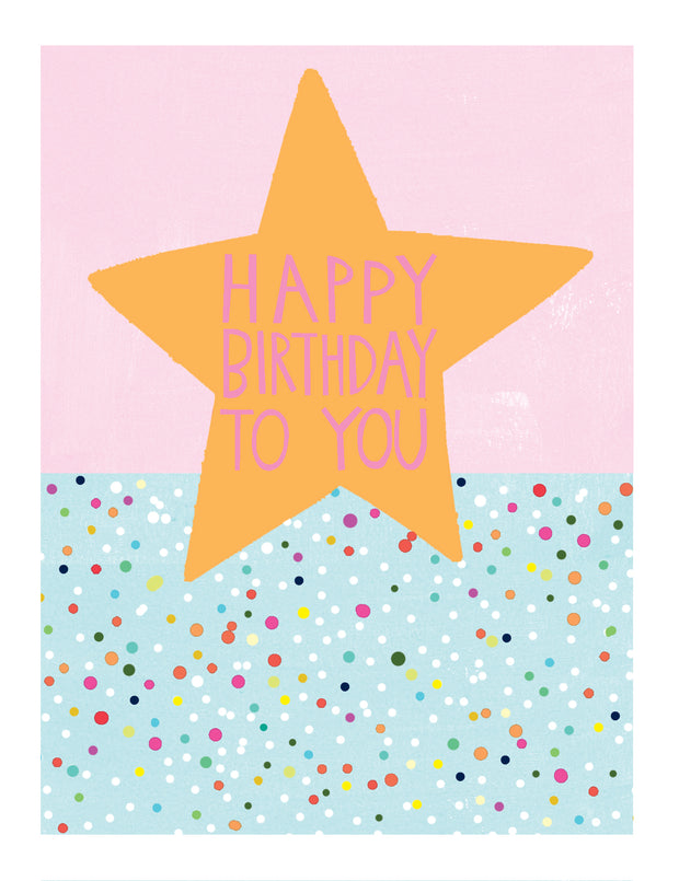 Birthday Star Greetings Card - Paper Salad