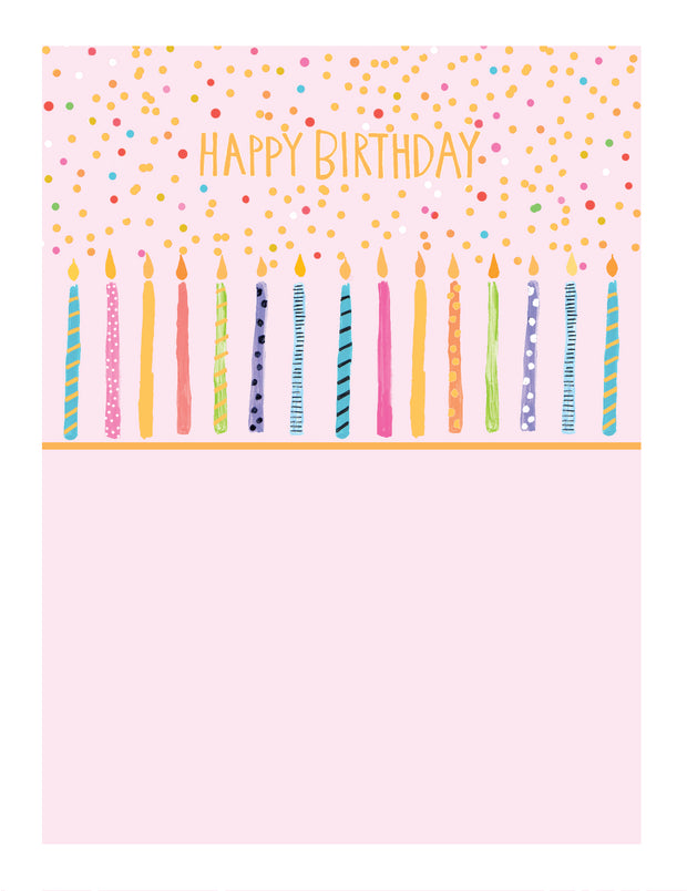 Birthday Candles Greetings Card - Paper Salad
