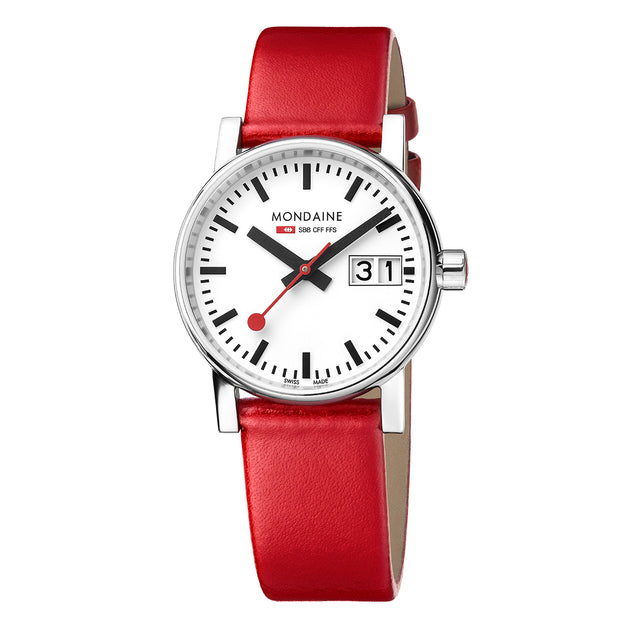 Mondaine EVO2 Red Ladies Watch