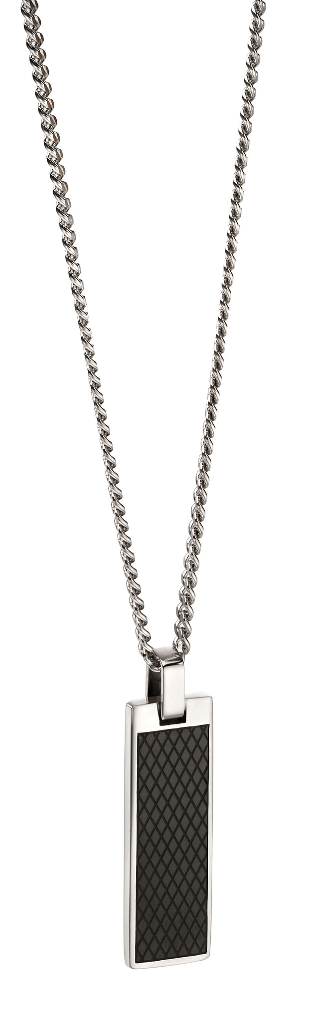 Fred Bennett Stainless Steel Textured Necklace