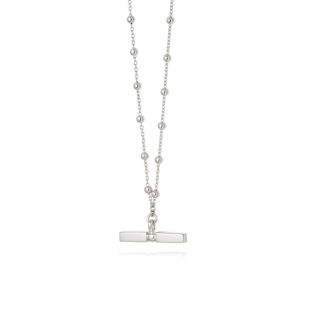 Daisy Stacked T Bar Necklace