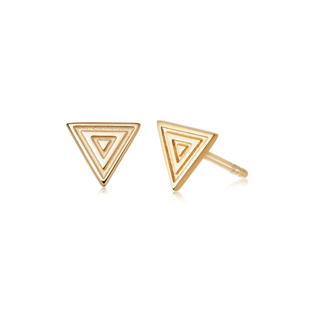 Artisan Tapestry Nomad Gold plate Stud Earrings - Daisy London