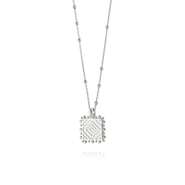 Artisan Chevron Nomad Silver Necklace - Daisy London
