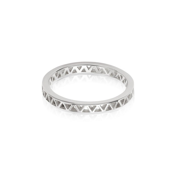 Artisan Nomad Silver Stacking Ring - Daisy London