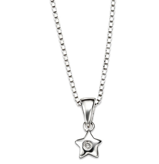 D for Diamond star pendant