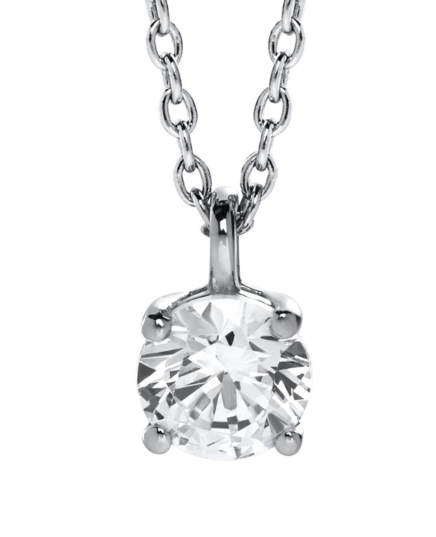 Ava 9ct White Gold & Diamond Pendant