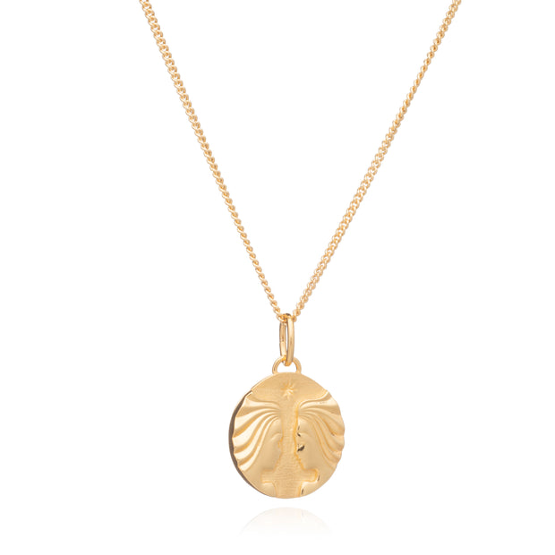 Zodiac Art - Gemini - 22ct Gold Plated Sterling Silver Necklace - Rachel Jackson
