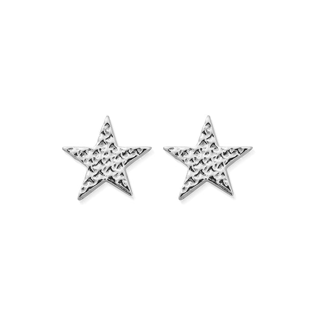 Sparkle Star Sterling Silver Stud Earrings - ChloBo
