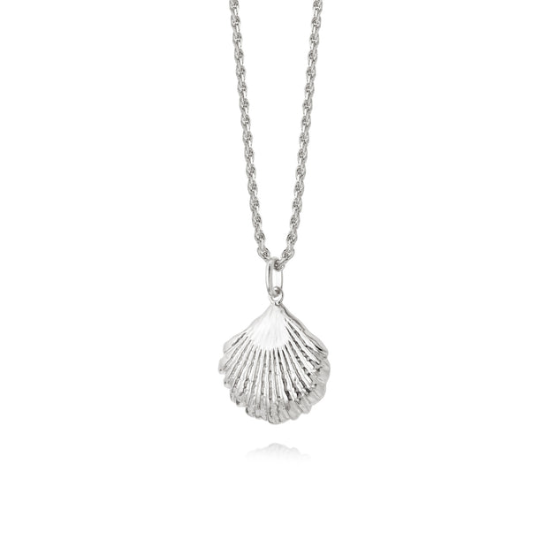 Isla Large Shell Silver Necklace