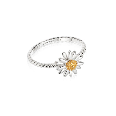English Daisy Rope Ring