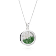 May - Emerald Sunburst Amulet Sterling Silver Necklace - Rachel Jackson