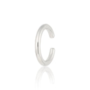 Slim Plain Sterling Silver Single Ear Cuff - Scream Pretty