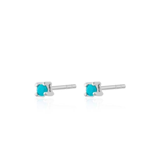 Turquoise Tiny Stud Earrings - Scream Pretty