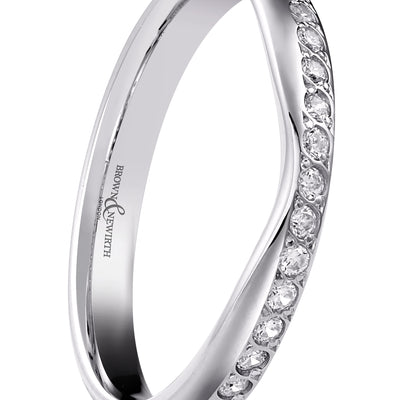 B&N Capella Shaped Wedding Band