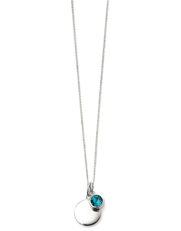 December Birthstone Pendant - Blue Zircon