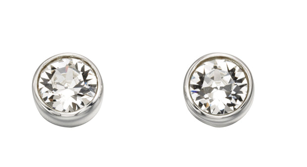 April Birthstone Studs - Crystal Swarovski