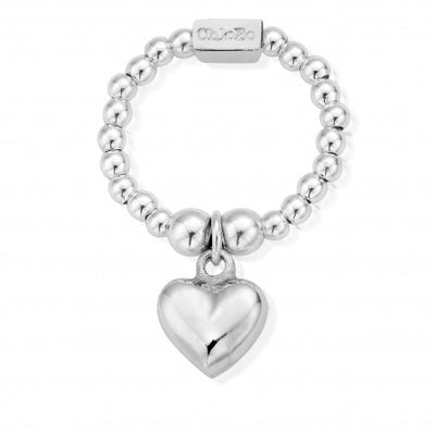 ChloBo Mini Puffed Heart Ring Lrg