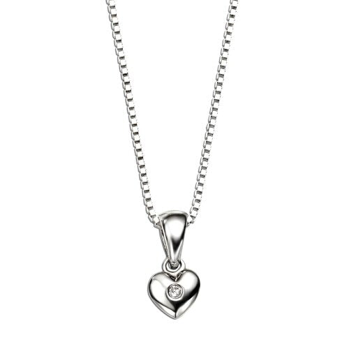 D for Diamond Diamond Heart pendant