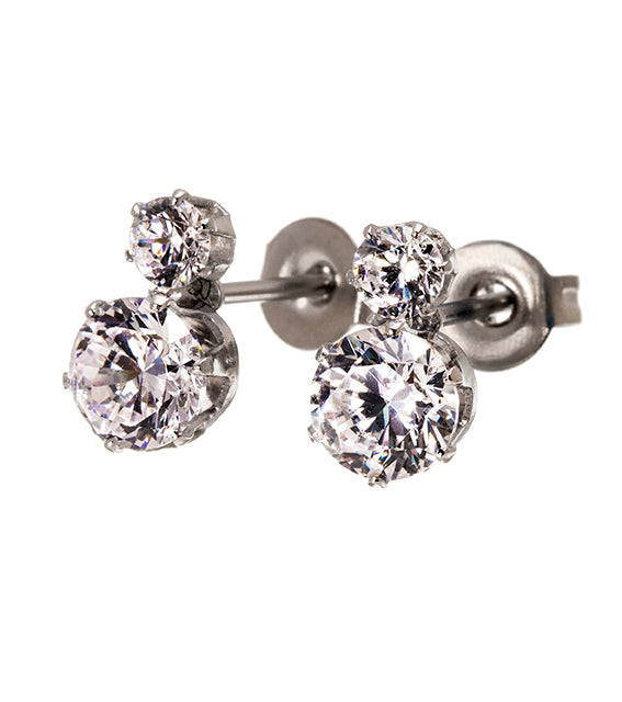 Edblad Crown Studs Double