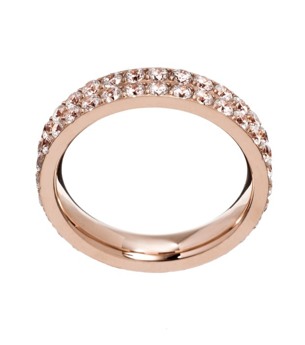 Edblad Glow ring double in Rose Gold Large