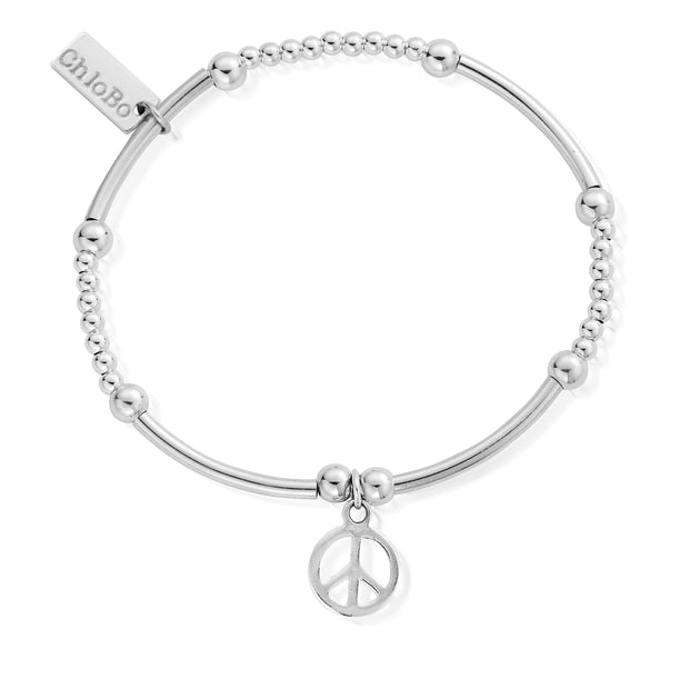 Cute Mini Peace Sterling Silver Bracelet - ChloBo