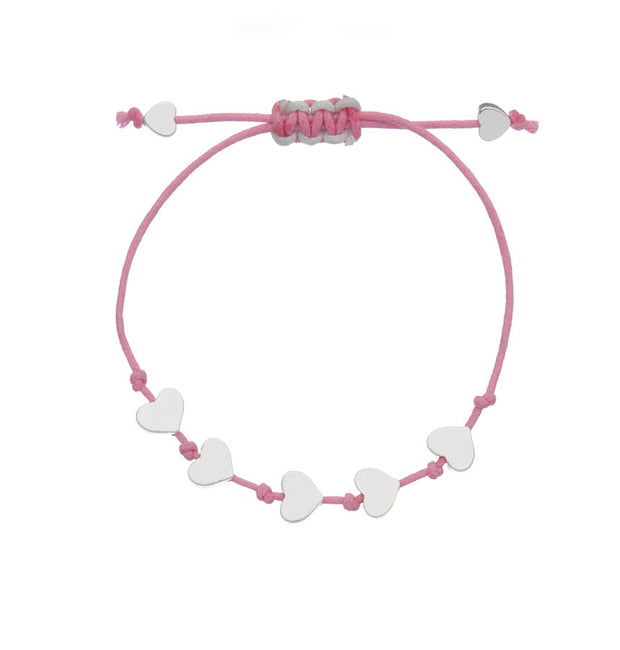 Little Ella Maddie Hearts Friendship Bracelet Pink