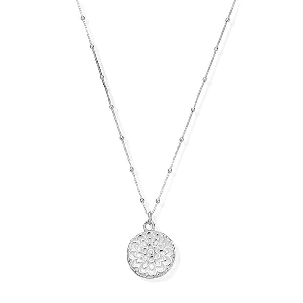 Moon Flower Sterling Silver Necklace - ChloBo