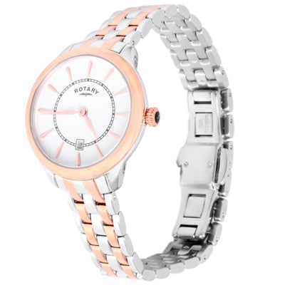 Rotary Ladies two tone bracelet watch