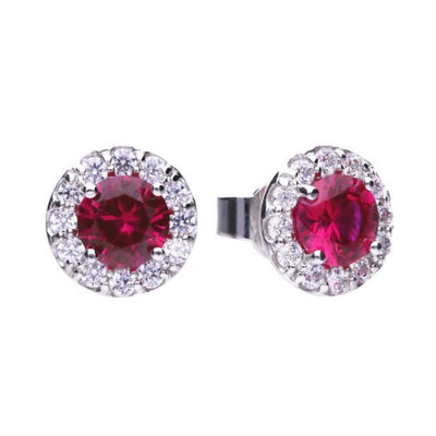 Royal Colours Ruby Red studs