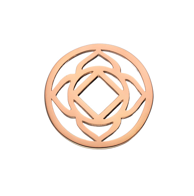 Base Chakra 18ct Rose Gold Plated Halo Coin - Daisy London