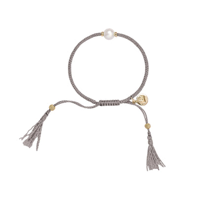Crown tassle Bracelet - Grey