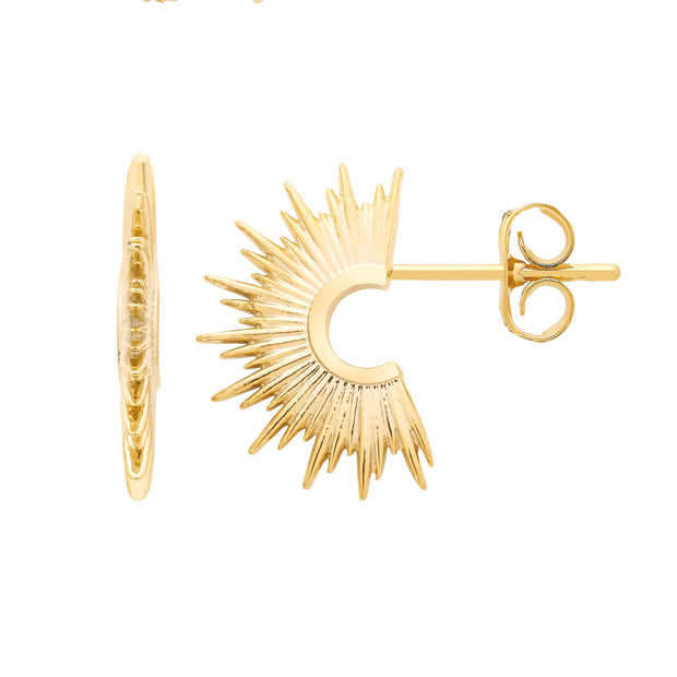 Sunburst Gold Plate Earrings  - Estella Bartlett