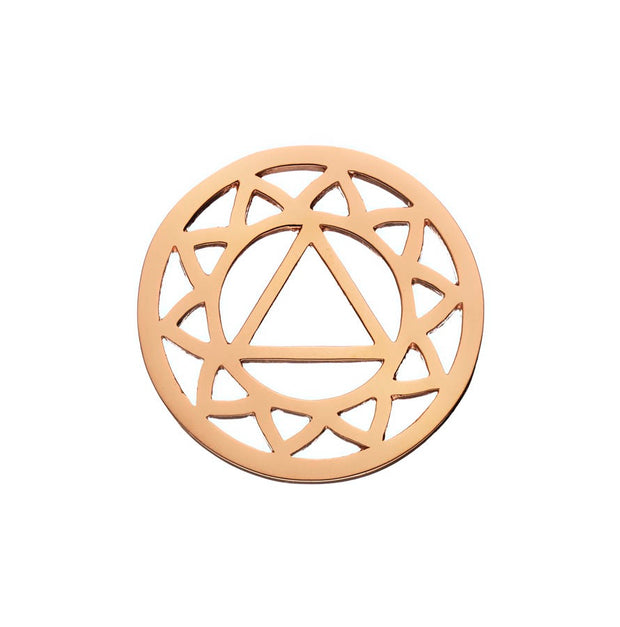 Daisy Solar Plexus Rose Gold Halo Coin