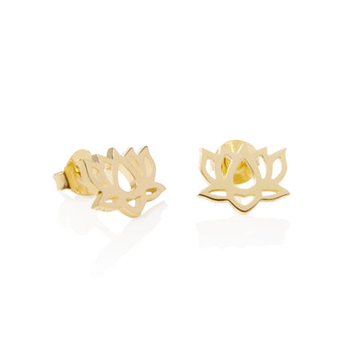 Daisy Lotus Flower Good Karma Studs