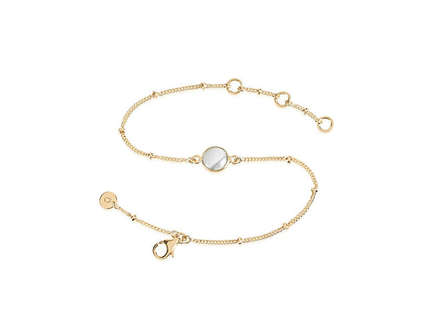 Howlite Healing Stone 18ct Gold Plate Bracelet - Daisy London