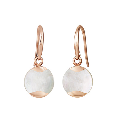 Dune Drop Earrings - South Sea Rose Gold