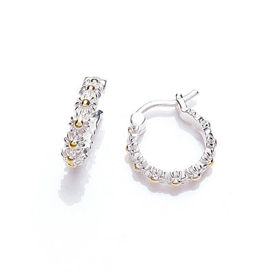 Daisy Vintage Iota 10mm Hoop Earrings