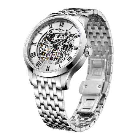 Rotary Stainless Steel Automatic Gents Watch