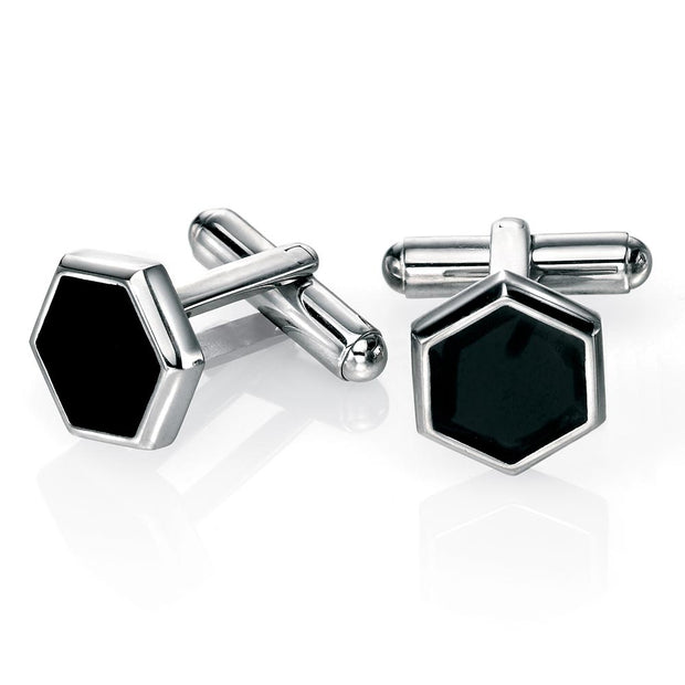 Fred Bennett Hexagon Stainless Steel Cufflinks